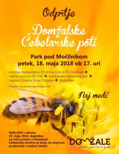 Odprtje Domžalske čebelarske poti