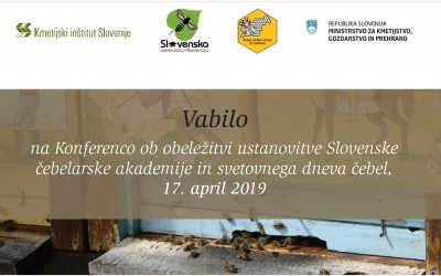 Conference to mark the first anniversary of the establishment of the Beekeeping Academy of Slovenia and World Bee Day